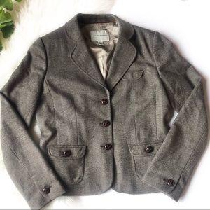 Banana Republic Hacking Jacket Blazer Tweed Fitted